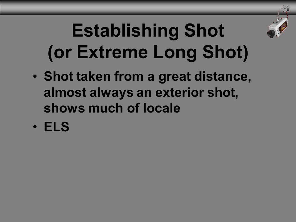 Establishing Shot (or Extreme Long Shot)