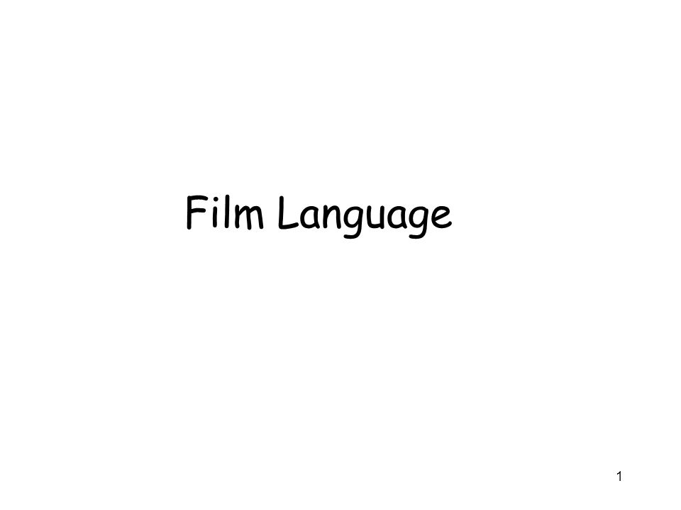 Film Language