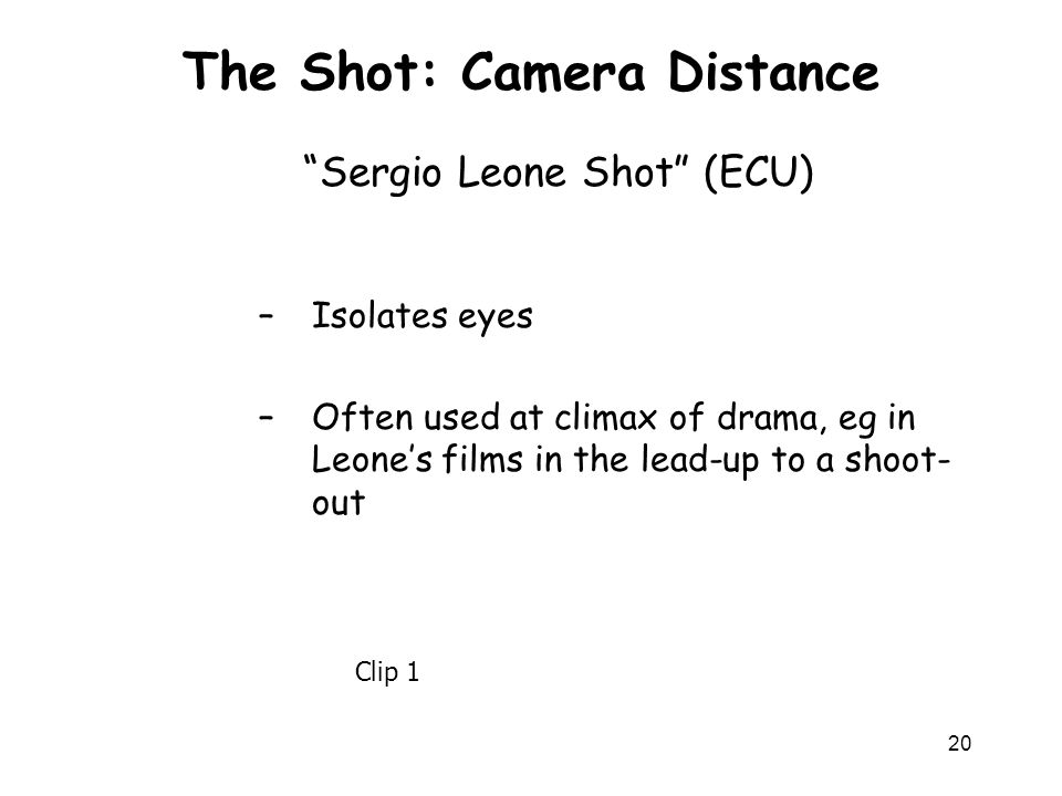 The Shot: Camera Distance