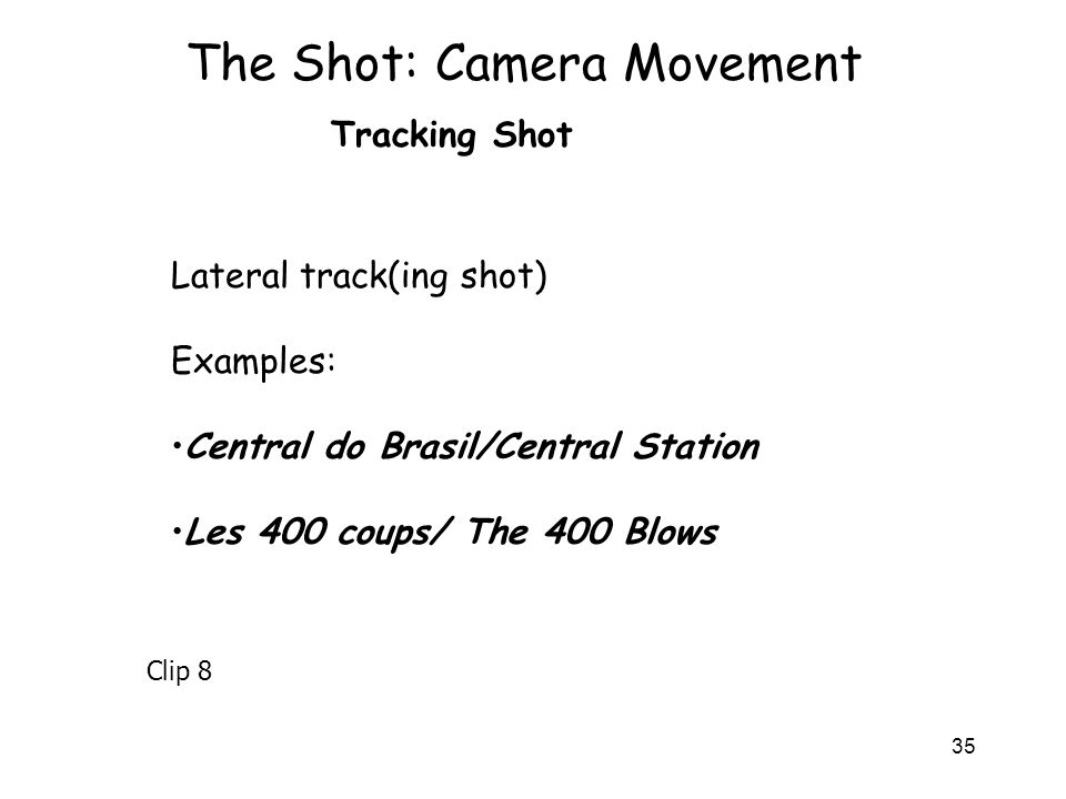 The Shot: Camera Movement