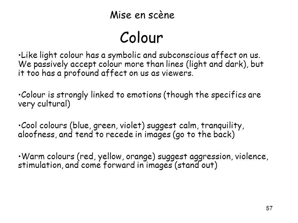 Mise en scène Colour.