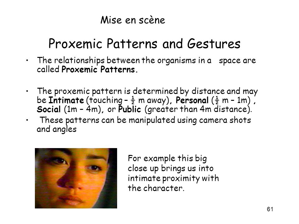 Proxemic Patterns and Gestures