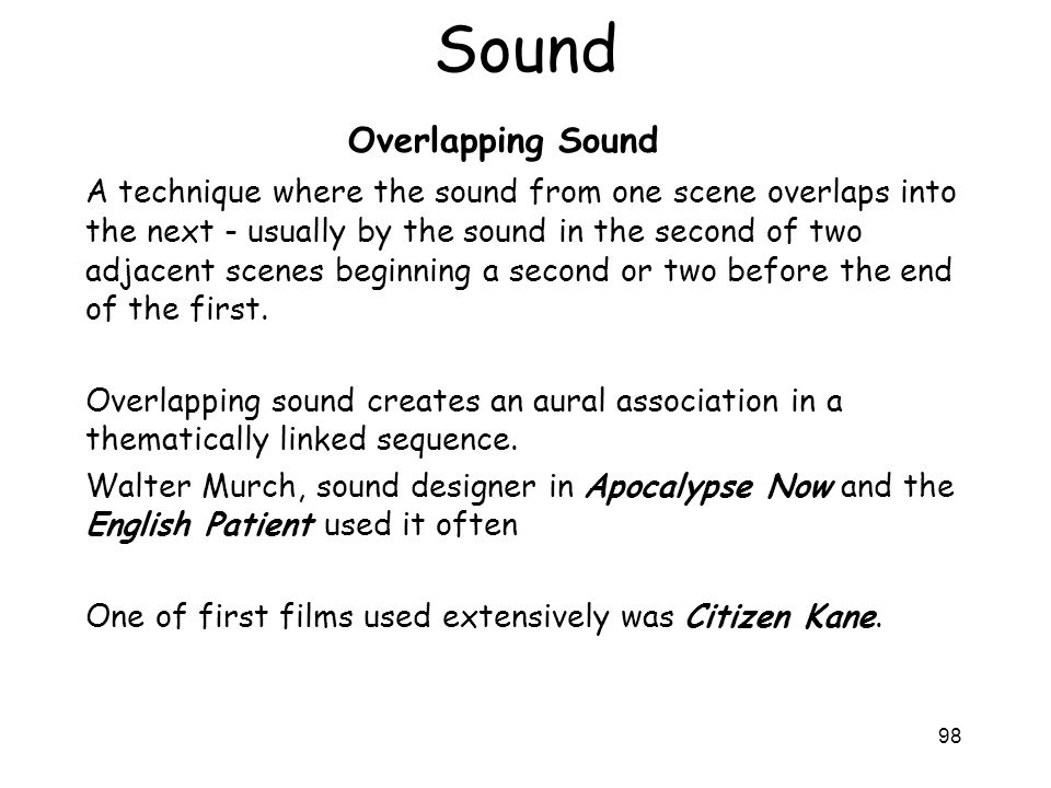 Sound Overlapping Sound