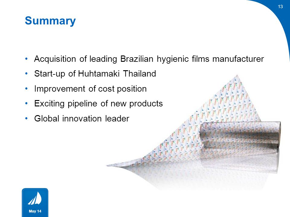 Summary Acquisition of leading Brazilian hygienic films manufacturer