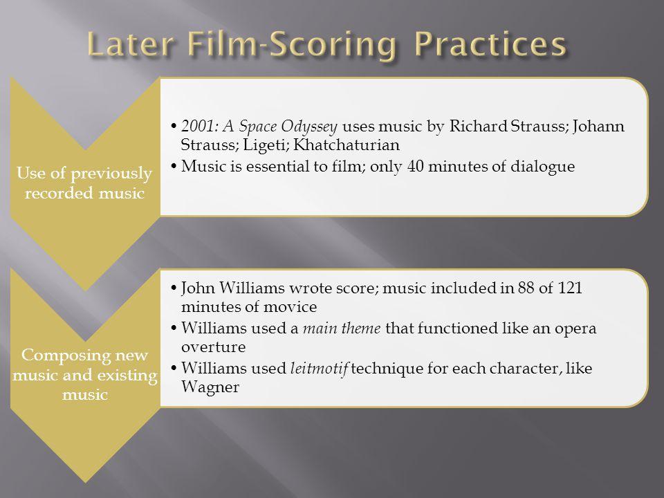 Later Film-Scoring Practices