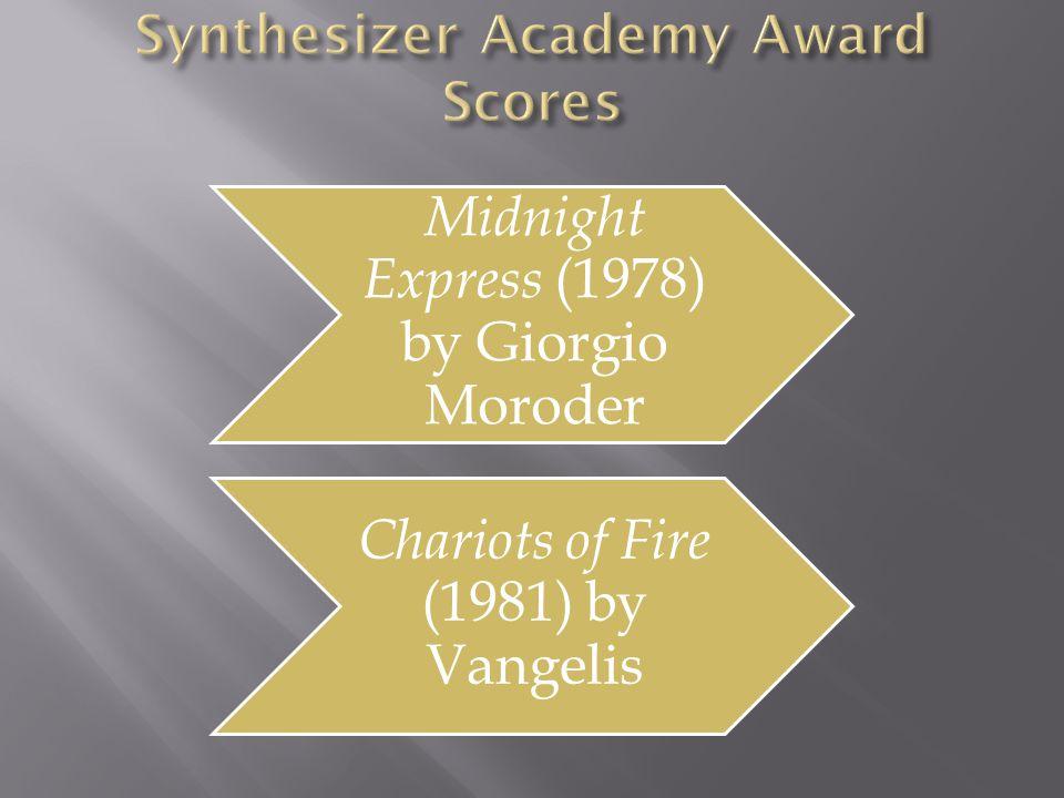 Synthesizer Academy Award Scores