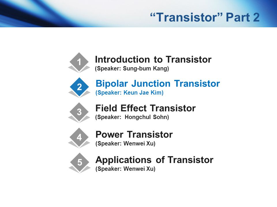 Transistor Part 2 Introduction to Transistor