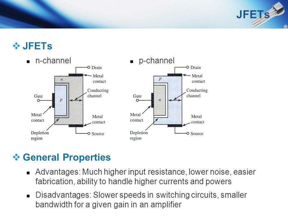 JFETs JFETs General Properties n-channel