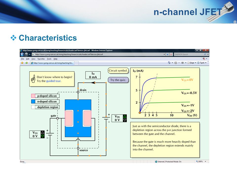 n-channel JFET Characteristics