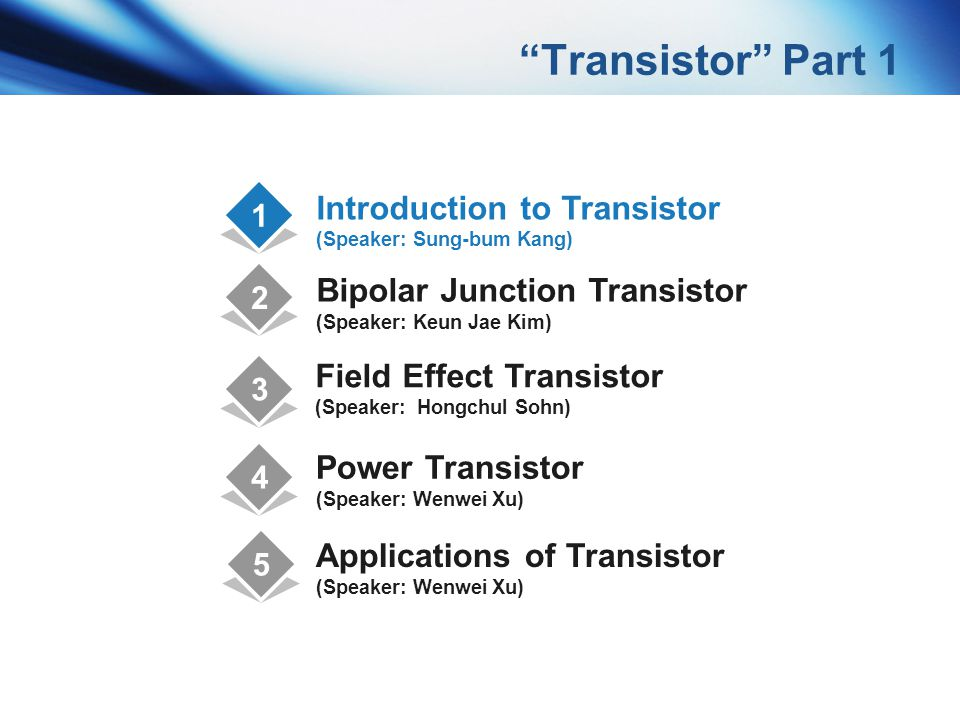 Transistor Part 1 Introduction to Transistor