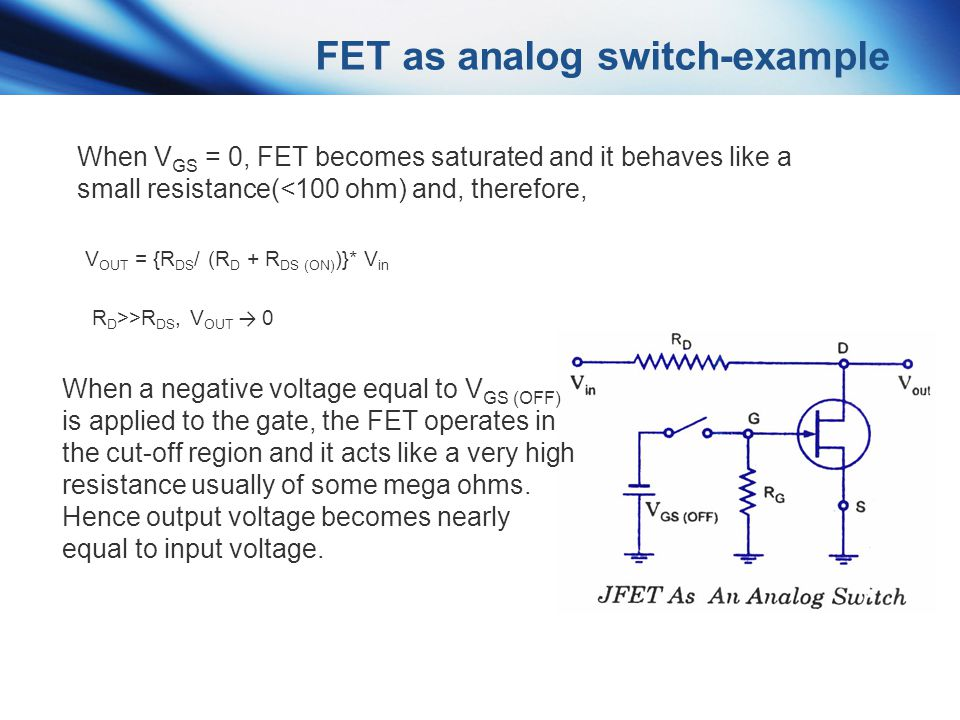 FET as analog switch-example