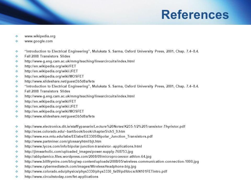 References www.wikipedia.org www.google.com