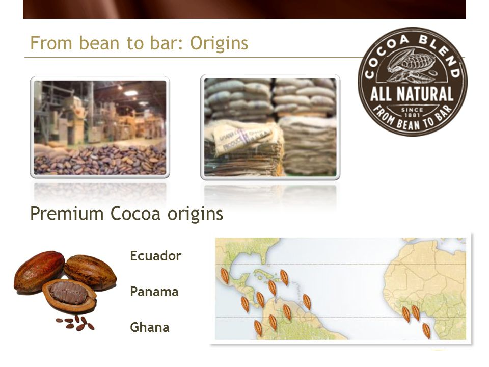 From bean to bar: Origins