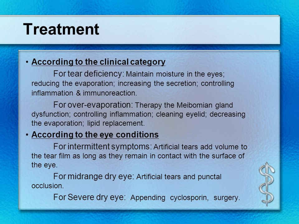 Treatment According to the clinical category