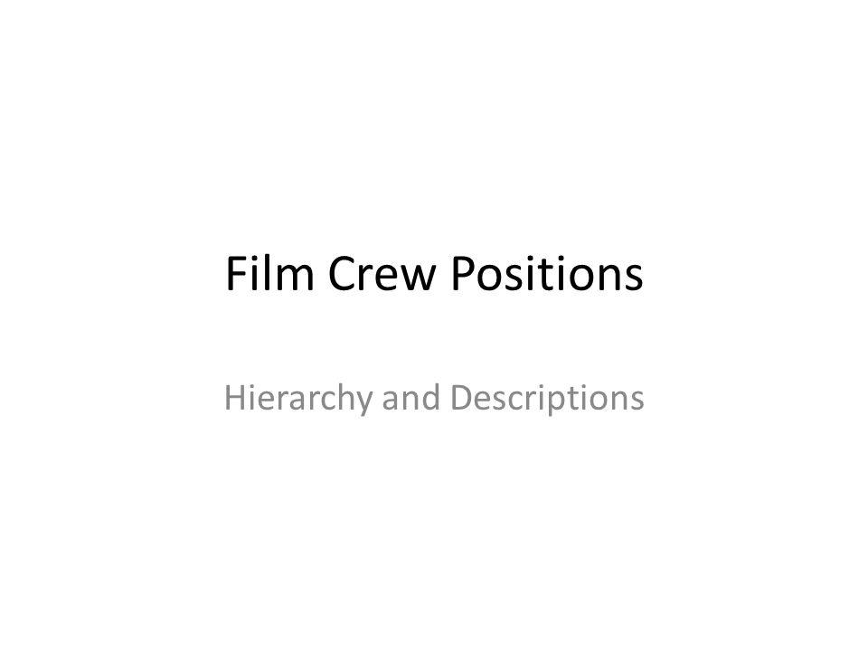 Hierarchy and Descriptions