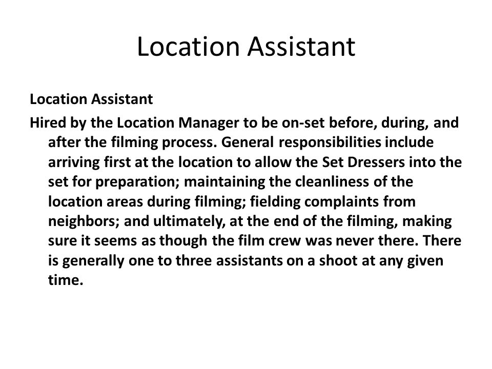 Location Assistant