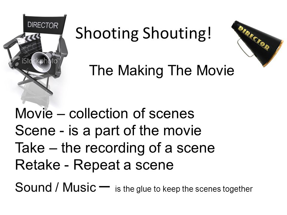 Shooting Shouting! The Making The Movie Movie – collection of scenes