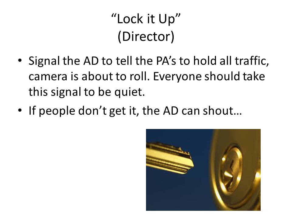 Lock it Up (Director)