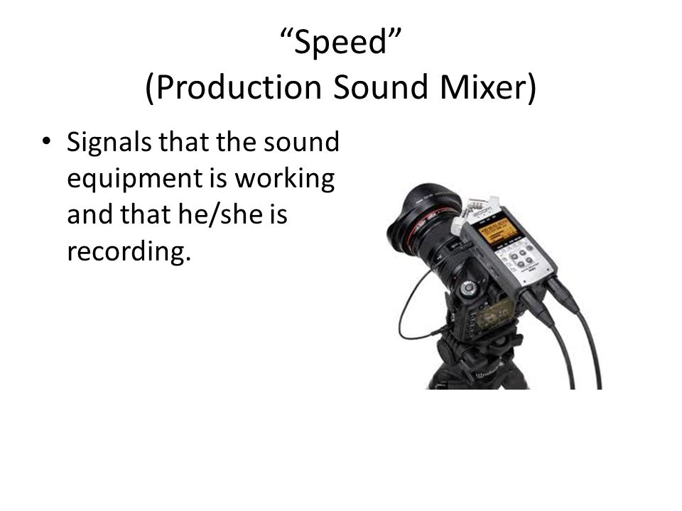 Speed (Production Sound Mixer)