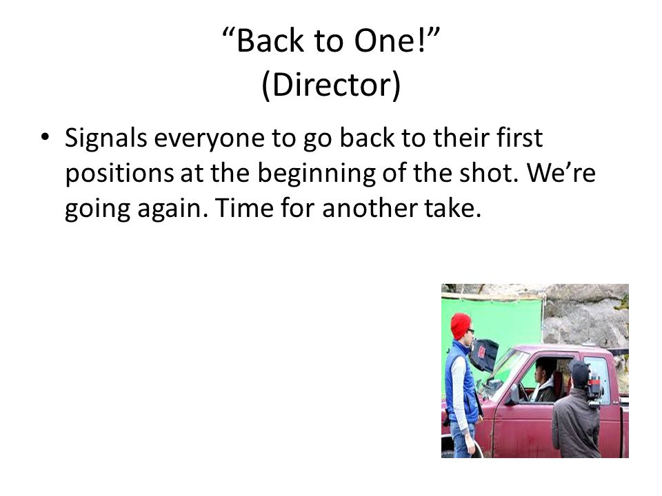 Back to One! (Director)