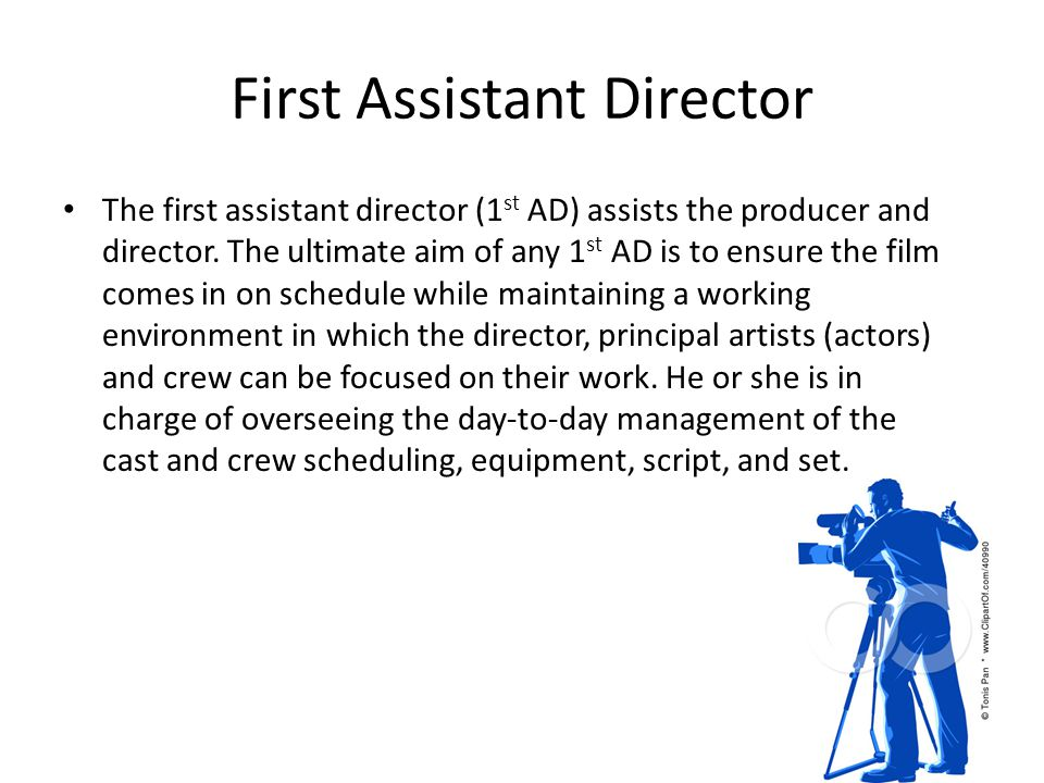 First Assistant Director