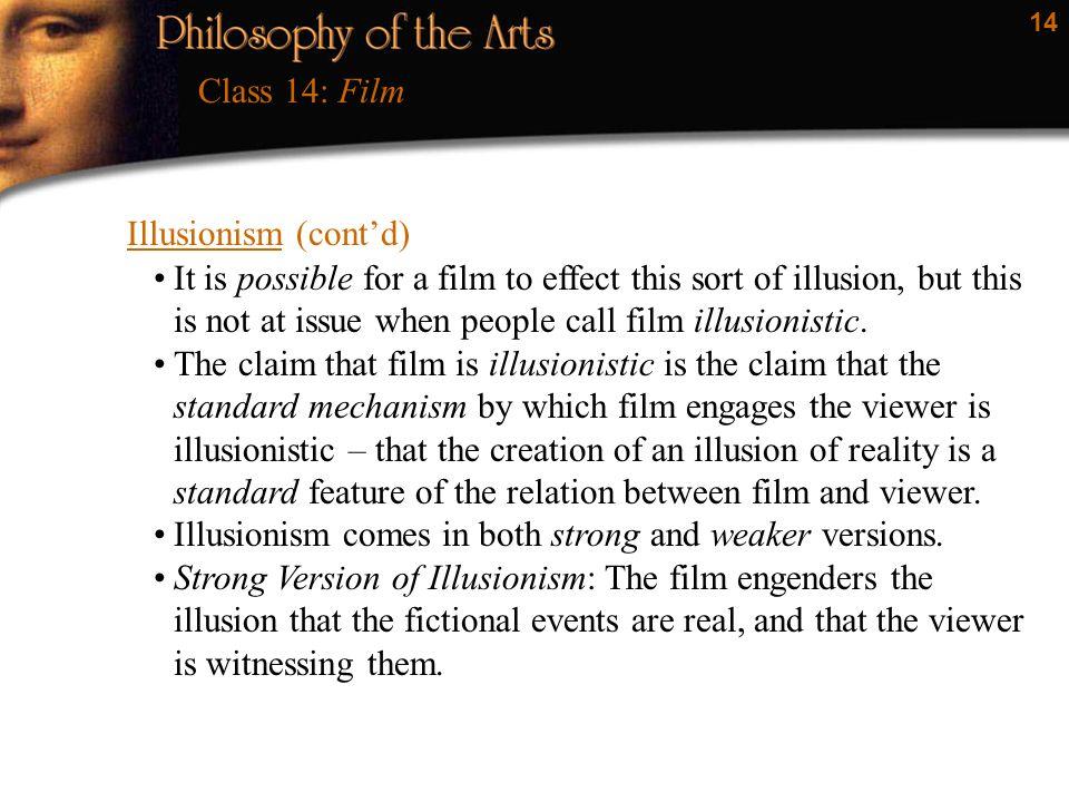 Class 14: Film Illusionism (cont'd)