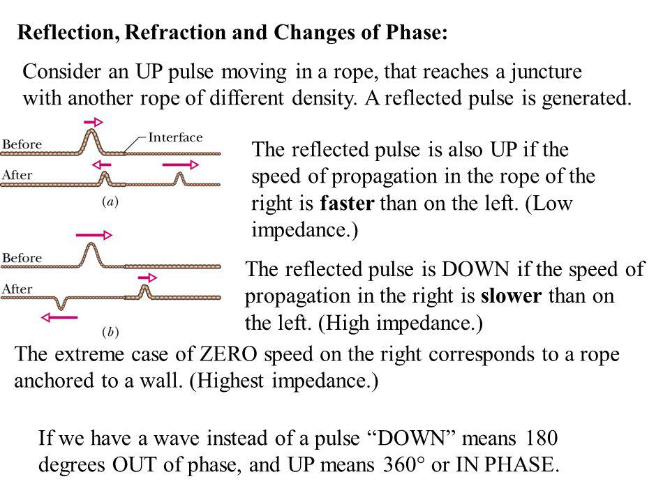 Reflection, Refraction and Changes of Phase: