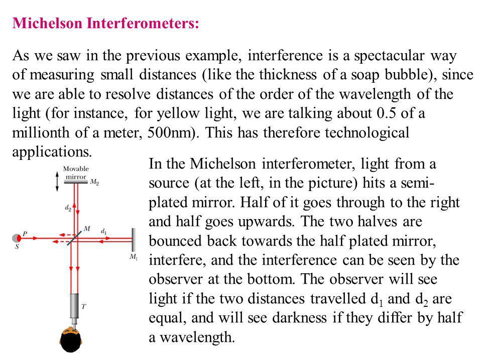 Michelson Interferometers: