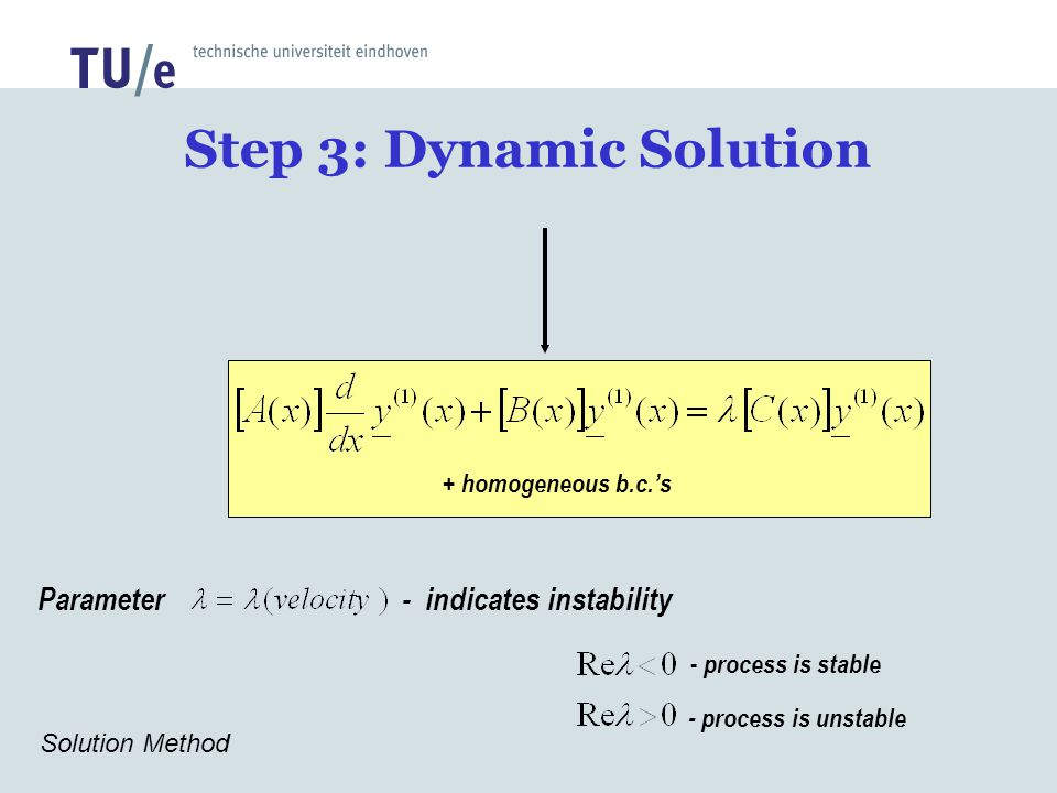 Step 3: Dynamic Solution