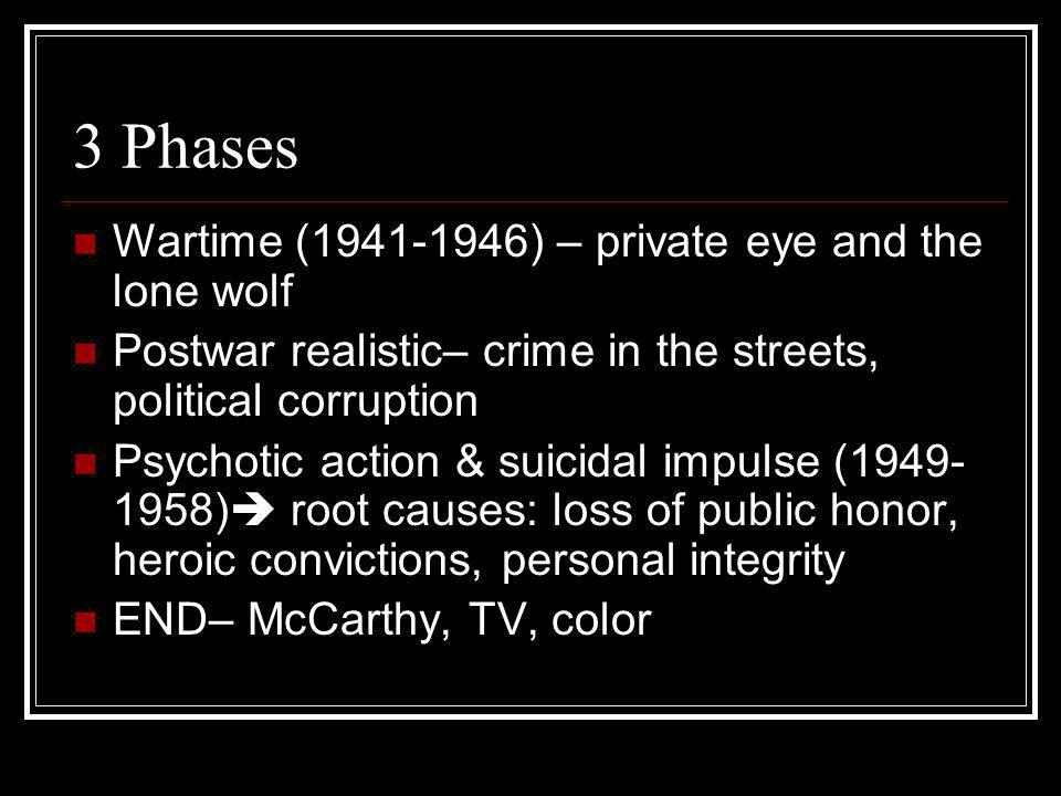 3 Phases Wartime (1941-1946) – private eye and the lone wolf