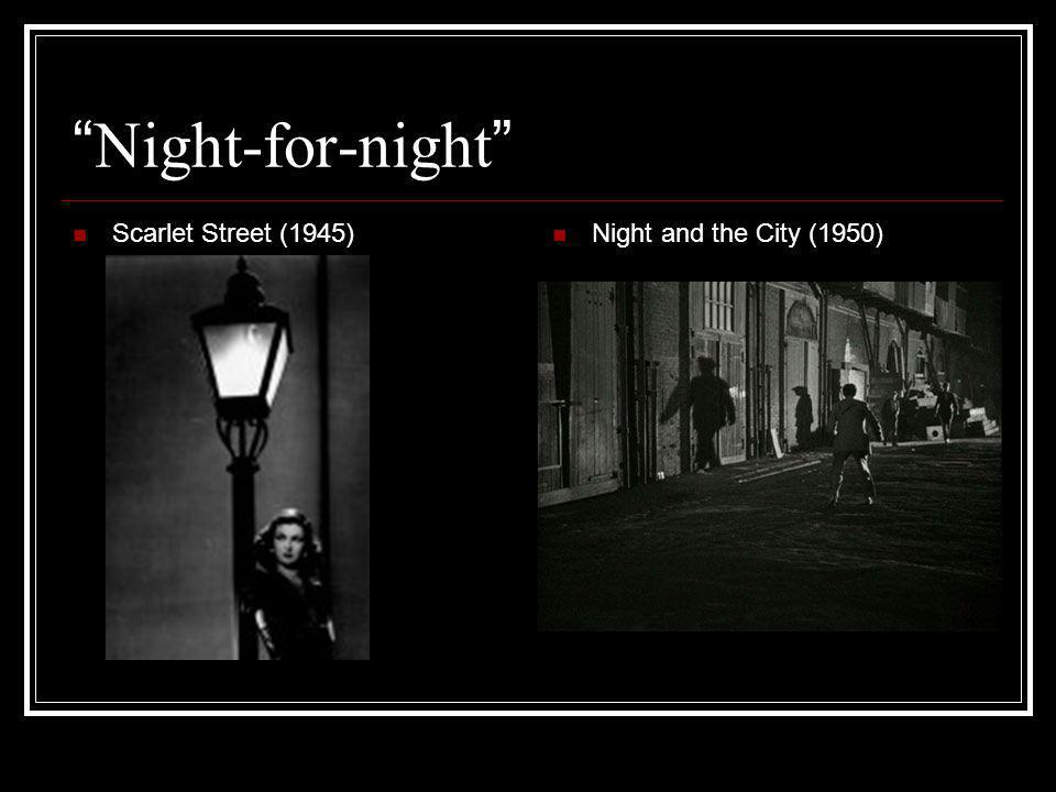 Night-for-night Scarlet Street (1945) Night and the City (1950)