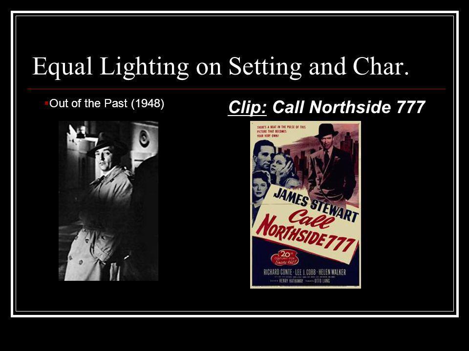 Equal Lighting on Setting and Char.