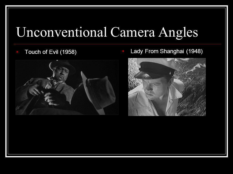 Unconventional Camera Angles
