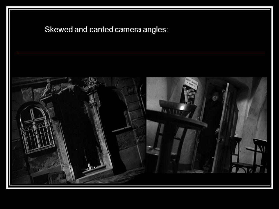 Skewed and canted camera angles: