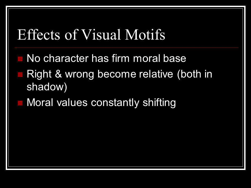 Effects of Visual Motifs