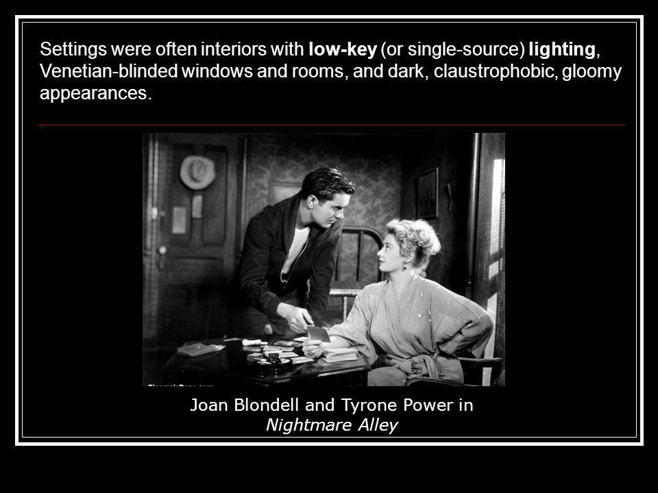 Joan Blondell and Tyrone Power in Nightmare Alley