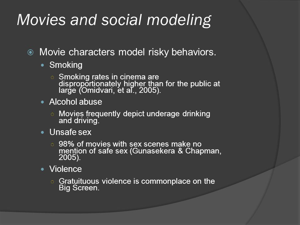 Movies and social modeling