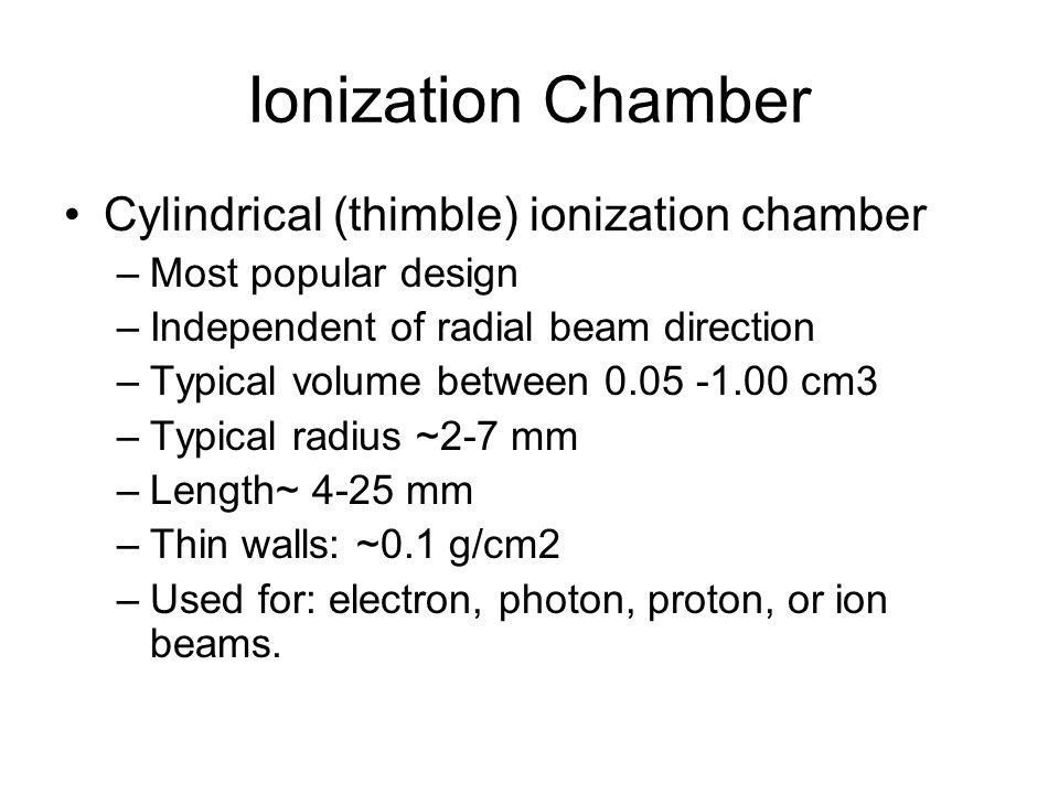 Ionization Chamber Cylindrical (thimble) ionization chamber