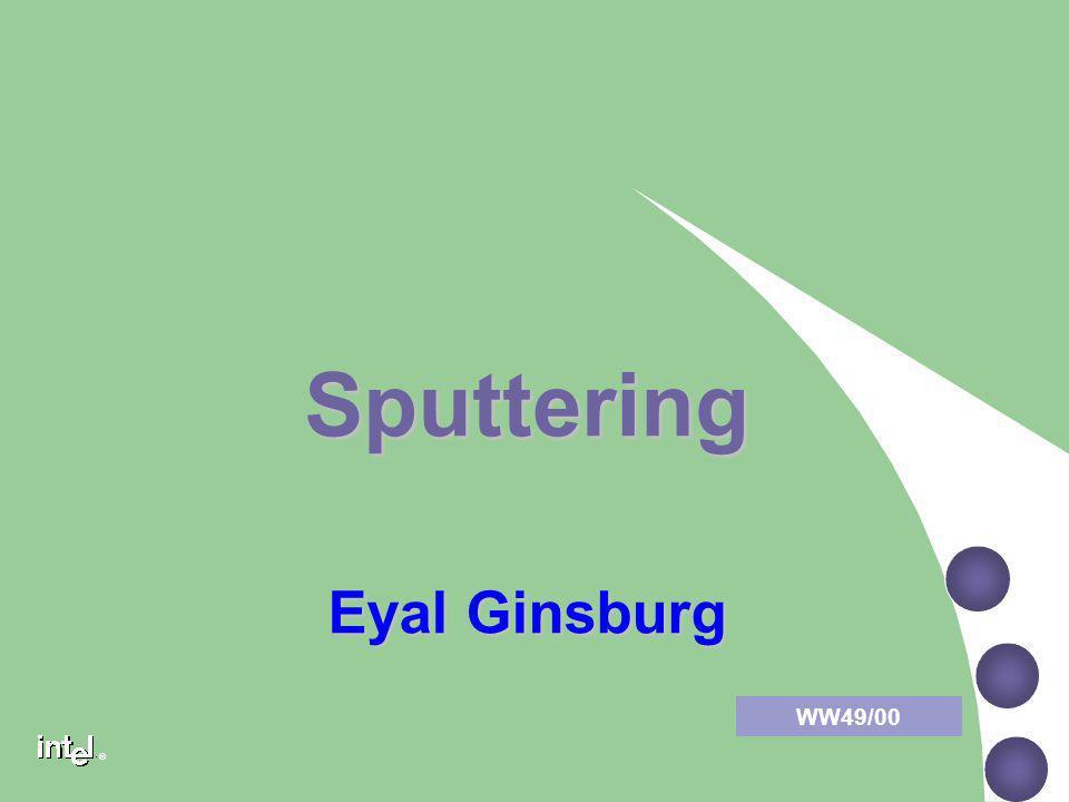Sputtering Eyal Ginsburg WW49/00