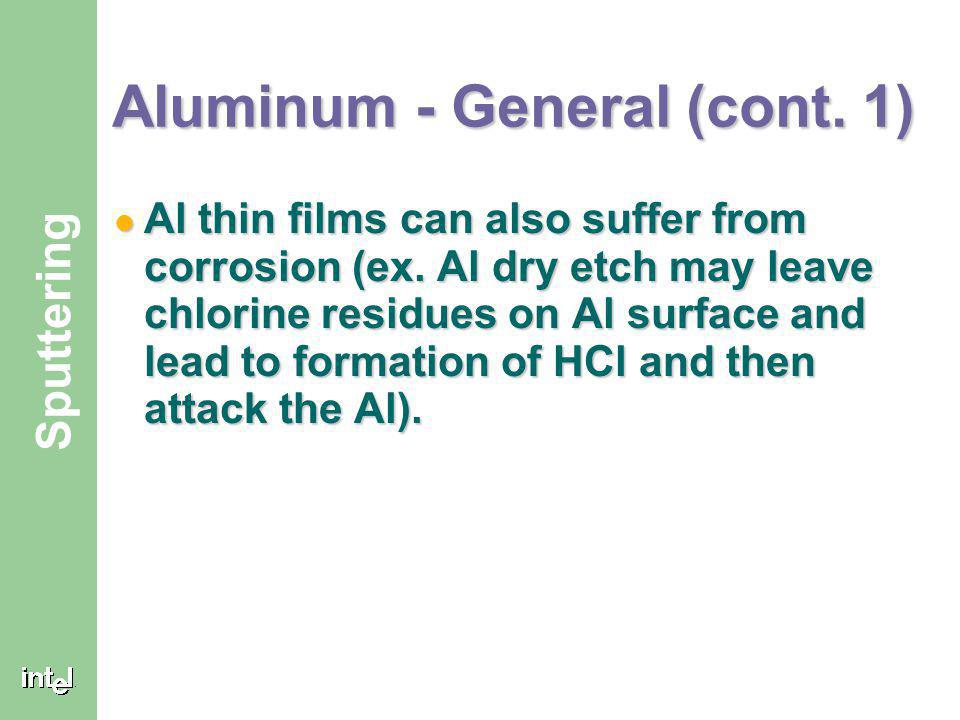 Aluminum - General (cont. 1)