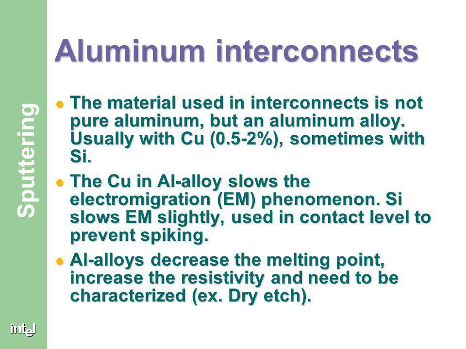 Aluminum interconnects