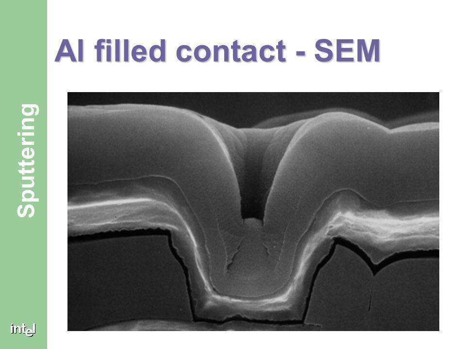 Al filled contact - SEM