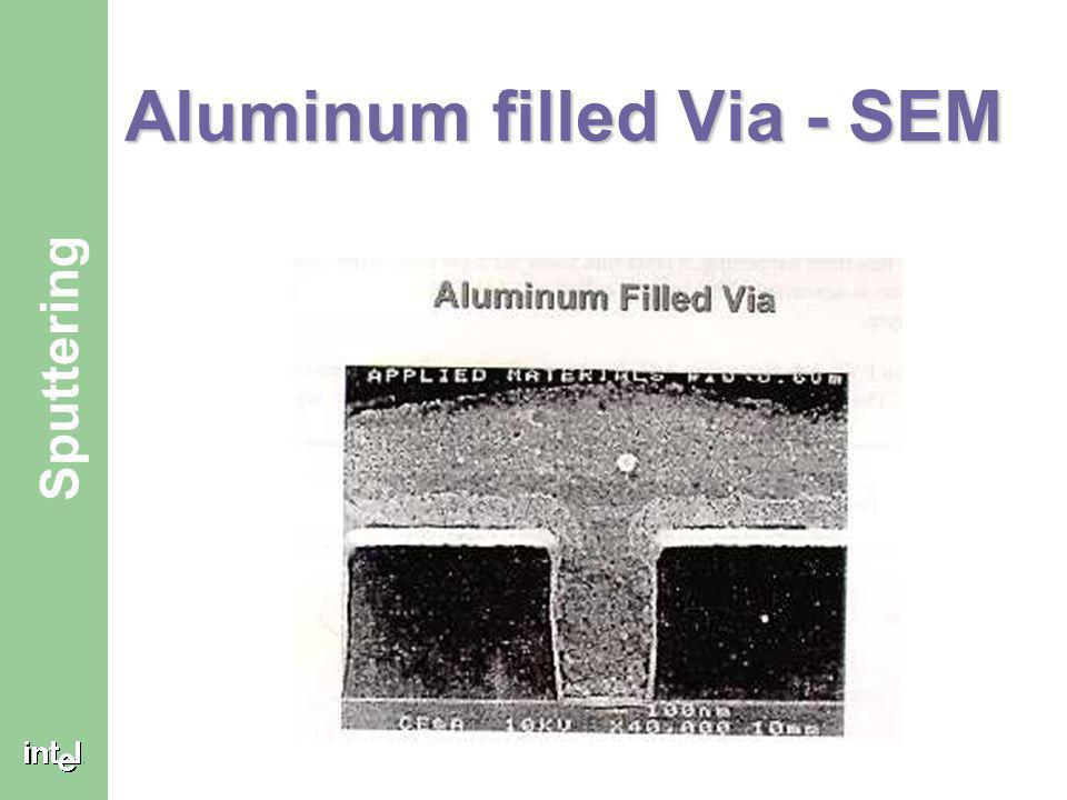 Aluminum filled Via - SEM