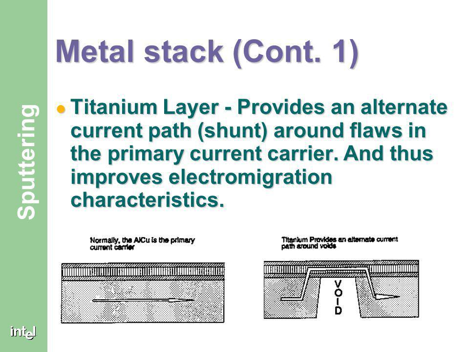 Metal stack (Cont. 1)