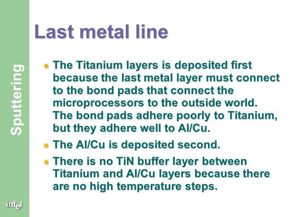 Last metal line