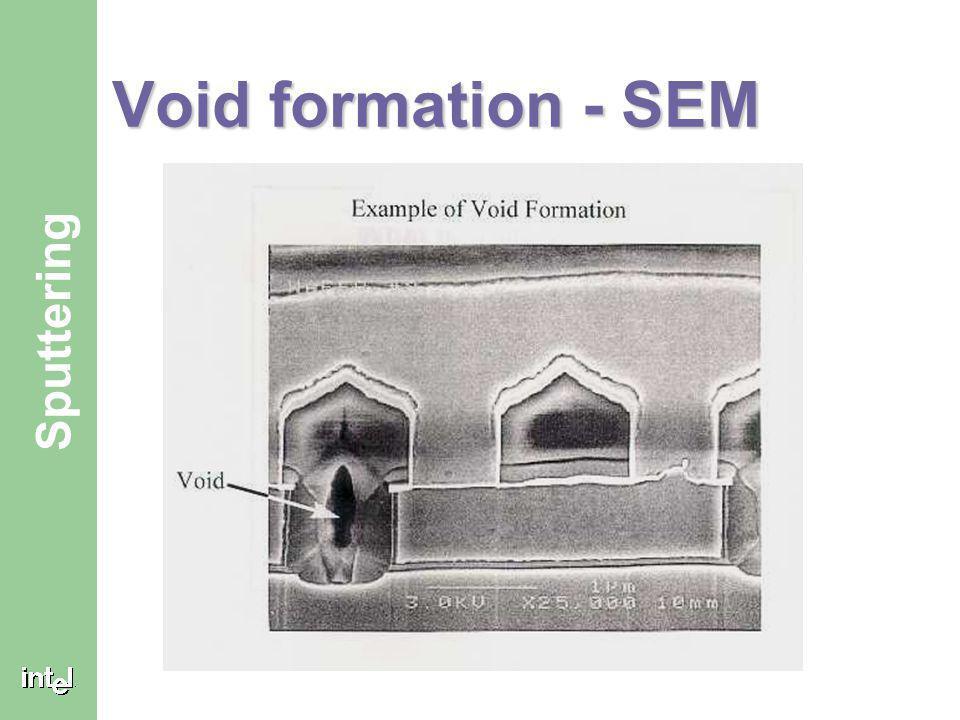 Void formation - SEM