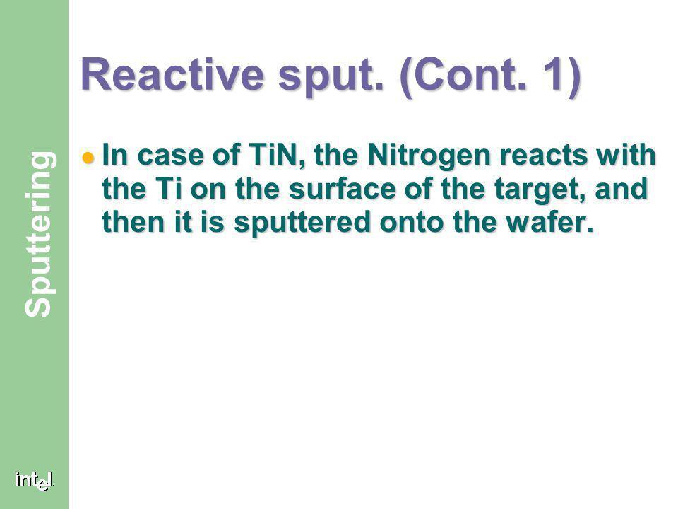 Reactive sput. (Cont.