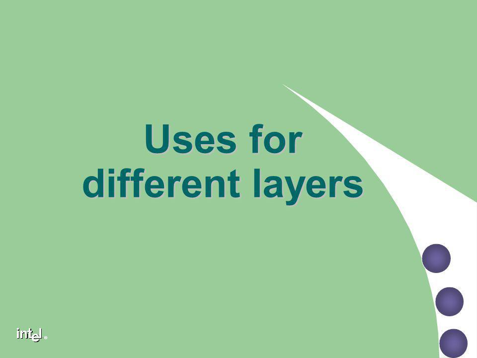 Uses for different layers