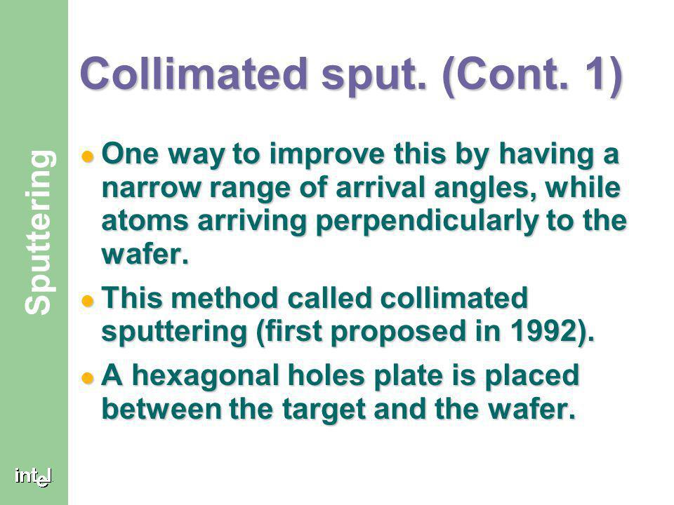 Collimated sput. (Cont. 1)