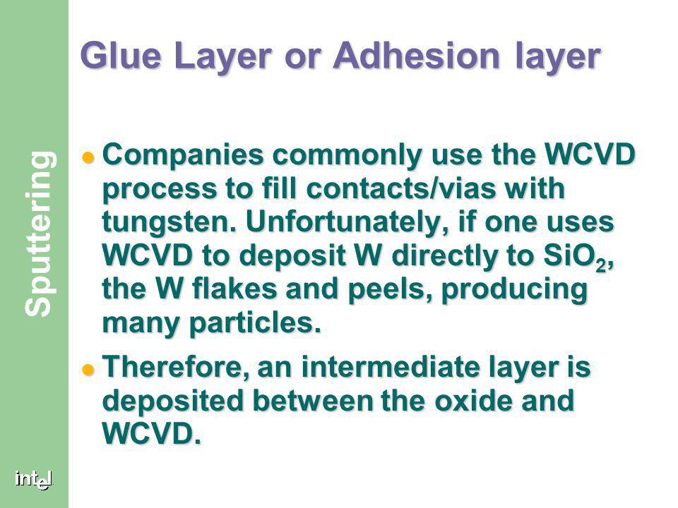 Glue Layer or Adhesion layer